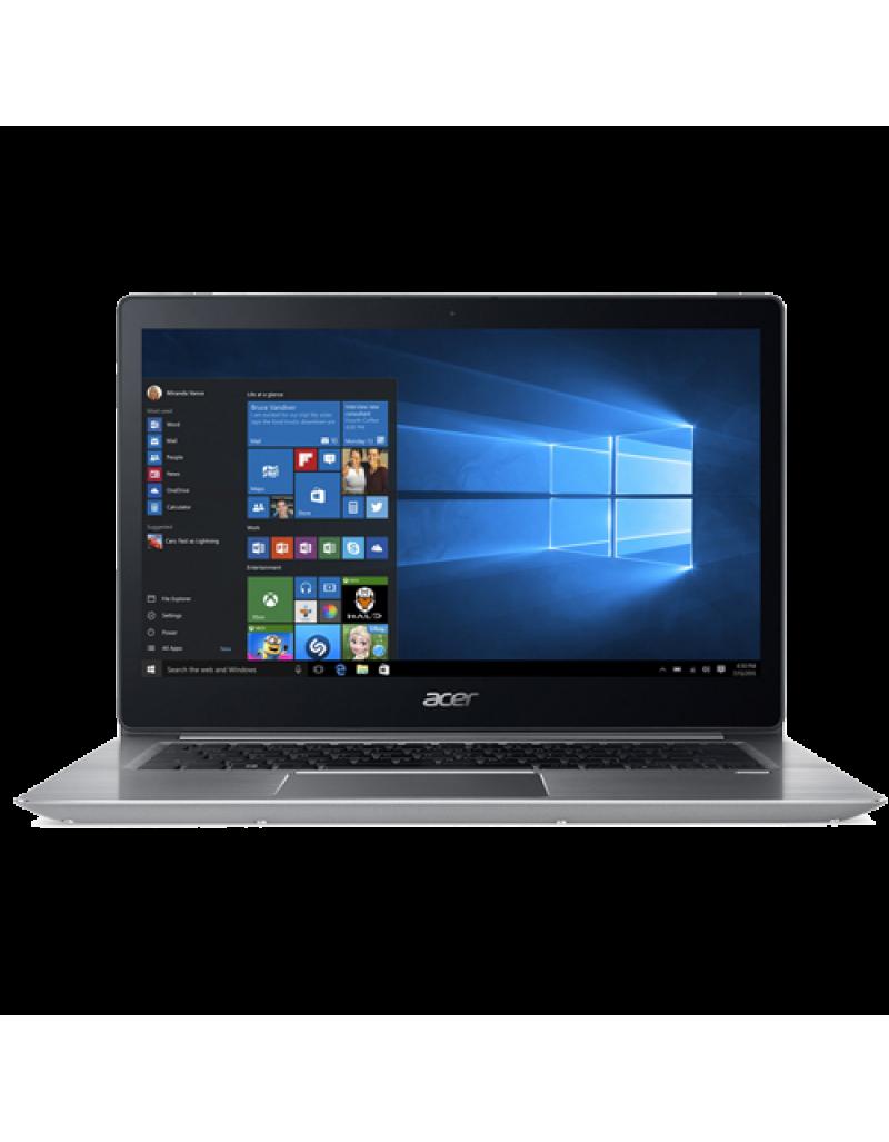"Acer Swift 3 SF315-51-520J 15.6"" Laptop (I5-8250, 8GB, 256GB SSD, Intel 620, W10H) – Sparkly Silver"