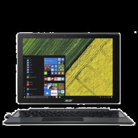 """Acer Switch 5 SW512-52P-75HB 12"""" Laptop (I7-7500U, 8GB, 256GB SSD, Intel 620, W10Pro) – Metallic"""