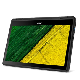 """Acer Spin 5 SP513-51-52QS 13.3"""" Laptop (I5-7200U, 4GB, 256GB SSD, Intel 64, W10H) – Obsidian Black"""