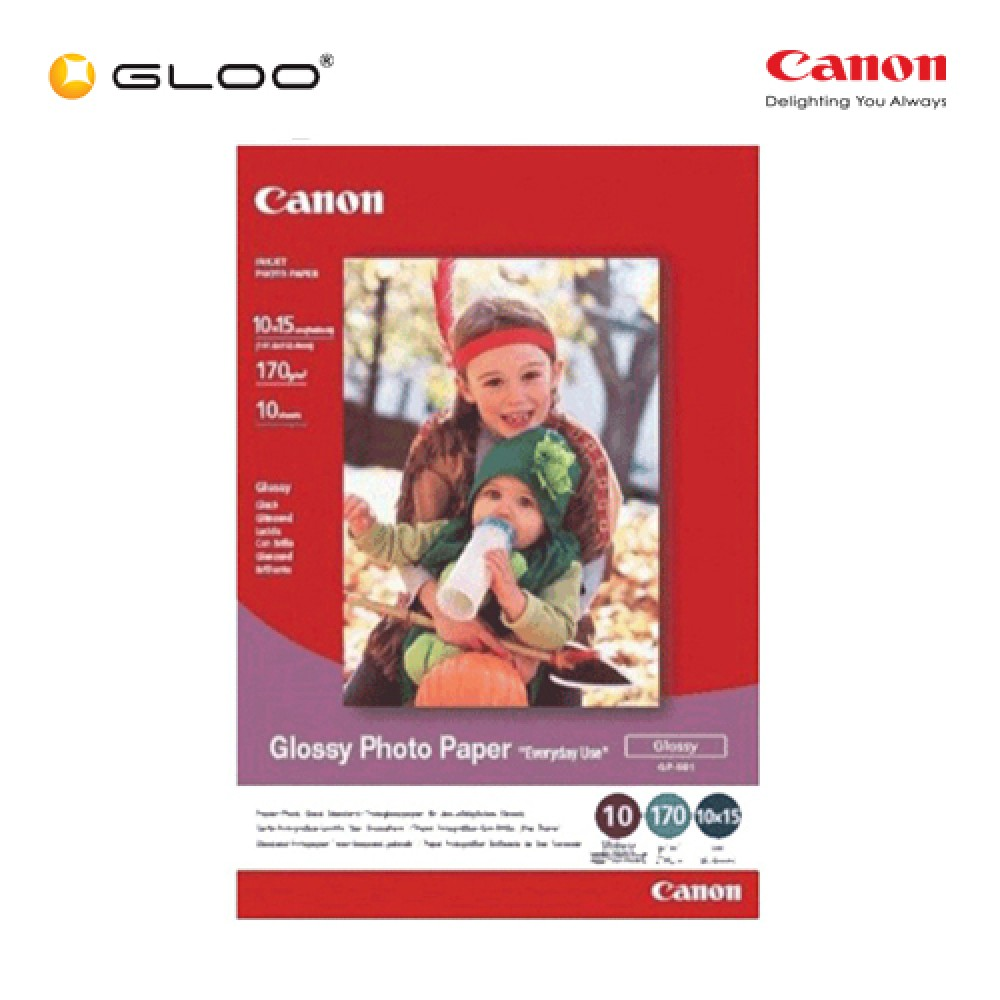 "Canon GP-501 Glossy Photo Paper 4"" x 6"" (10 Sheets)"