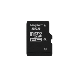 Kingston 8GB Micro SD Card (Waterproof, 4MB/s minimum data transfer rate, Compatible with microSD host devices)