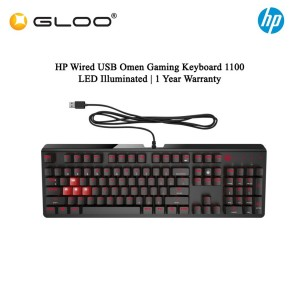 HP Wired USB Omen Gaming Keyboard 1100