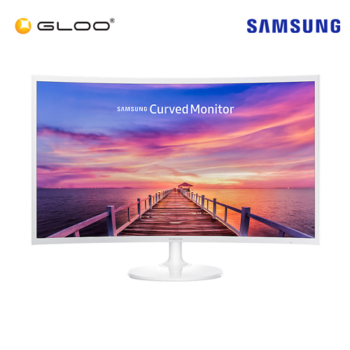"Samsung 31.5"" LC32F391FWEXXM Curved White LED Monitor"