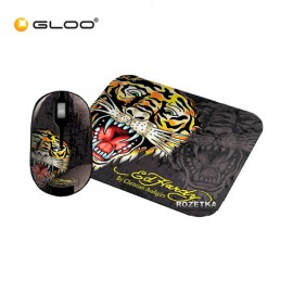 Ed Hardy Tiger 2 In 1 Mouse and Pad Set
