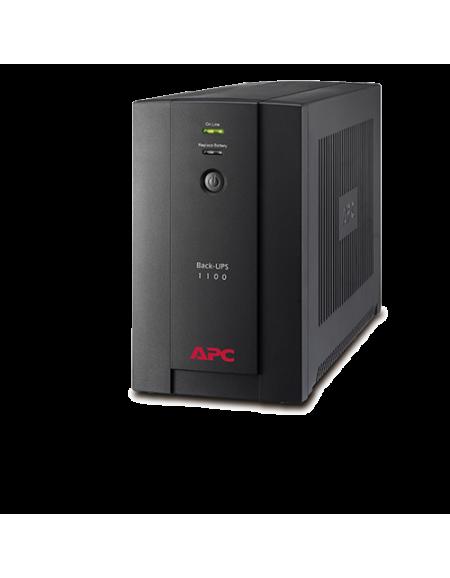 APC Back-UPS 1100VA, 230V, AVR, Universal and IEC Sockets, BX1100LI-MS - Black