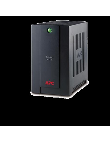APC Back-UPS 800VA, 230V, AVR, Universal and IEC Sockets BX800LI MS - Black