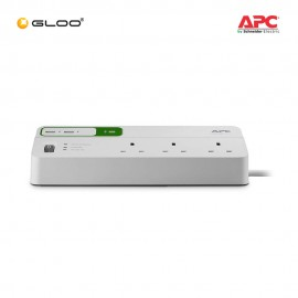 [Work From Home Combo C] APC Back-UPS Connect CP12010LI-UK - Black + APC Essential SurgeArrest 6 outlets with 5V, 2.4A 2 port USB charger, 230V UK PM6U-UK - White