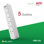 APC Essential SurgeArrest 5 outlets 230V UK PM5-UK - White