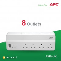 APC Essential SurgeArrest 8 outlets 230V UK PM8-UK - White