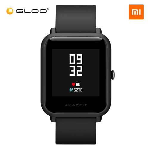 Mi Amazfit Bip English UI Xiaomi Mi Fit App Huami Pace Lite Youth Smartwatch Waterproof IP68 (Official Mi Malaysia) - Black