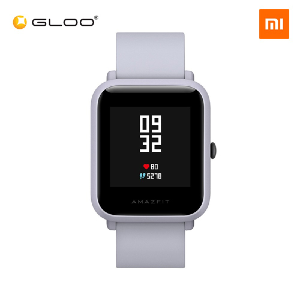 Mi Amazfit Bip English UI Xiaomi Mi Fit App Huami Pace Lite Youth Smartwatch Waterproof IP68 (Official Mi Malaysia) White