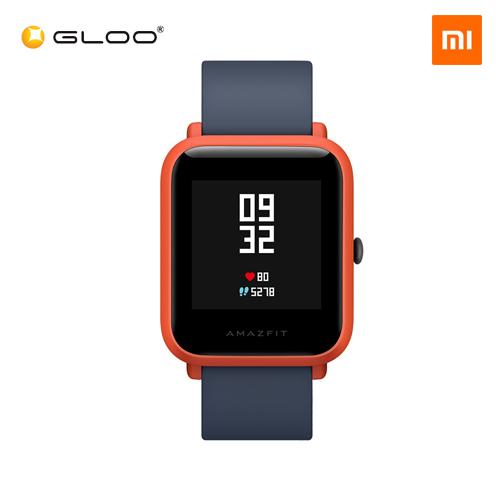 Mi Amazfit Bip English UI Xiaomi Mi Fit App Huami Pace Lite Youth Smartwatch Waterproof IP68 (Official Mi Malaysia) Red
