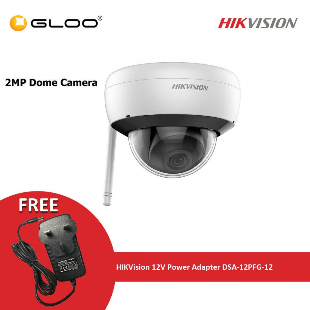 Hikvision CCTV Camera DS-2CD2121G1-IDW1 4MM + Hikvison 12V Power Adapter DSA-12PFG-12 FUK 120100