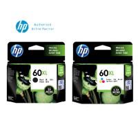 [Set of 2] HP 60XL High Yield Black Original Ink (CC641WA) + HP 60XL Tri-Color Original Ink (CC644WA)