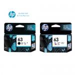 [2 Units] HP 63 Black Original Ink Advantage Cartridge F6U62AA + HP 63 Tri-color Original Ink Advantage Cartridge F6U61AA