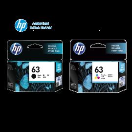 [Set of 2] HP 63 Black Ink Cartridge (F6U62AA) + HP 63 Tri-Color Ink Cartridge (F6U61AA)