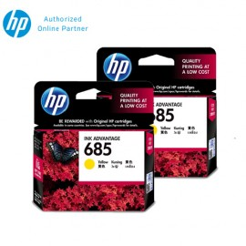[Set of 2] HP 685 Yellow Ink (CZ124AA)