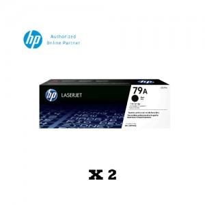 [2 Units] HP 79A Black Original LaserJet Toner Cartridge CF279A [**FREE REDEMPTION: Touch & GO E- wallet credit or Boost E- voucher worth RM 30 **11 Nov 2019 till 31 Jan 2020 Only !!!**]