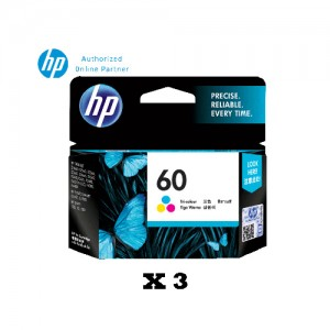 [3 Units] HP 60 Tri-color Original Ink Advantage Cartridge CC643WA