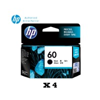 [Set of 4] HP 60 Black Ink Cartridge (CC640WA)