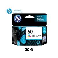 [Set of 4] HP 60 Tri-color Original Ink Cartridge (CC643WA)