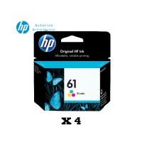 [Set of 4] HP 61 Tri-Color Ink Cartridge (CH562WA)