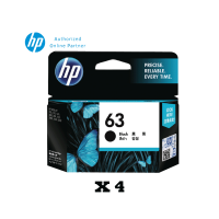 [Set of 4] HP 63 Black Ink Cartridge (F6U62AA)