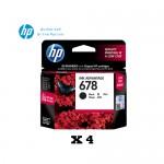 [Set of 4] HP 678 Black Ink Cartridge (CZ107AA)