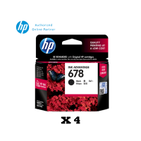 [Set of 4] HP 678 Black Ink Cartridge (CZ107AA)