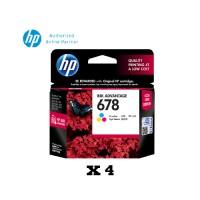 [4 Units] HP 678 Tri-color Original Ink Advantage Cartridge CZ108AA