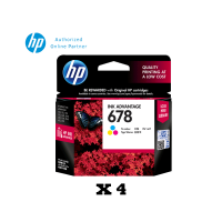[Set of 4] HP 678 Tri-Color Ink Cartridge (CZ108AA)