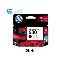 [Set of 4] HP 680 Black Ink Cartridge