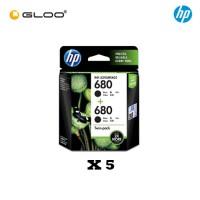 [5 Units] HP 680 Twin Pack Black Original Ink Advantage Cartridge X4E79AA