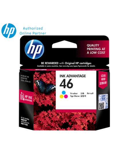 HP 46 (CZ638AA) Ink Cartridge- Tri Color