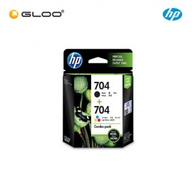 HP 704 Combo Pack Black/Tri-color Original Ink Advantage Cartridge F6V33AA