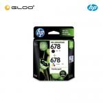 HP 678 Combo Pack Black/Tri-color Original Ink Advantage Cartridge L0S24AA