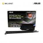Asus DSL-N12HP High Power ADSL Modem Router Wireless-N300 (Win 10 Support)-Black