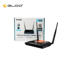 Dlink DSL 2730E 300Mpbs ADSL2+ Wireless N Modem Router-Black