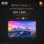 "[Pre-order] Xiaomi Mi TV P1 43"" [Arrives from 30 June onwards]"