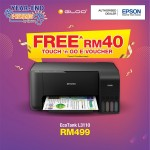 Epson EcoTank L3110 All-in-One Ink Tank Printer - Black [*FREE Redemption RM 40 Touch 'n Go e-credit]