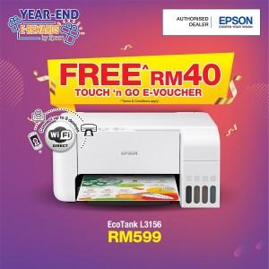 Epson L3156 Printer C11CG86514 [*FREE Redemption RM 40 Touch 'n Go e-credit]