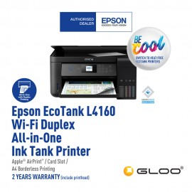 Epson L4160 Wi-Fi Duplex All-in-One Ink Tank Printer (Print/Scan/Copy/Auto-duplex printing)