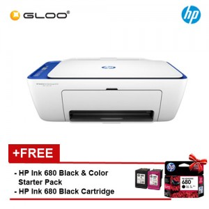 HP Printer DeskJet Ink Advantage 2676 AIO (7FQ80B) (Bundled with HP Ink 680 Black Original Cartridge in the box)