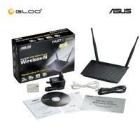 Asus DSL-N12E C1 Wireless-N300 ADSL Modem Router-Black