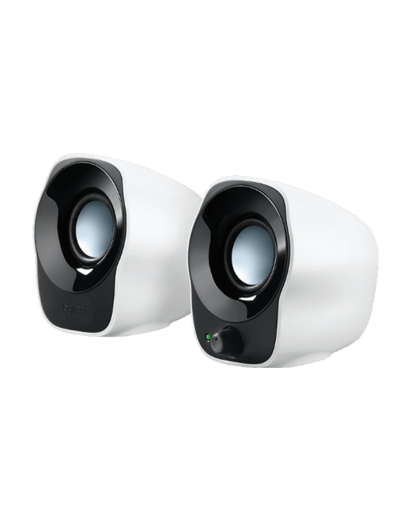 Logitech Z120 Stereo Speaker-Black & White