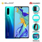 Huawei P30 8GB + 128GB Aurora + FREE Huawei P30 Wireless Charging Back Cover + Huawei Body Fat Scale 6901443198375 + Huawei Honor 4 Running Band - AW70 + Shield Care - 1 Year Extended Warranty