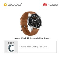Huawei Watch GT 2 46mm Pebble Brown (FREE Huawei Watch GT Strap Dark Green)