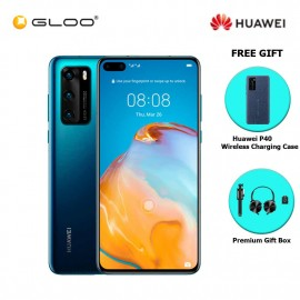 Huawei P40 8GB+128GB Deep Sea Blue [FREE Huawei P40 Wireless Charging Case + Premium Gift Box (Headset/Selfie Stick/iRing)]