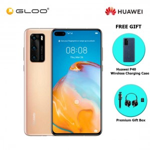 Huawei P40 8GB+128GB Blush Gold [FREE Huawei P40 Wireless Charging Case + Premium Gift Box (Headset/Selfie Stick/iRing)]