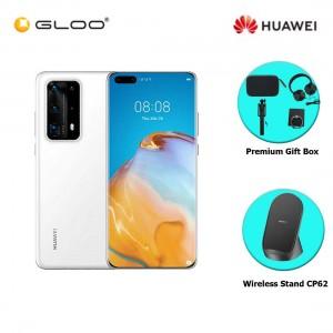 Huawei P40 Pro+ 5G 8GB+512GB White Ceramic  [FREE Premium Gift Box (Speaker/Headset/Selfie Stick/iRing) +Huawei Wireless Stand CP62]